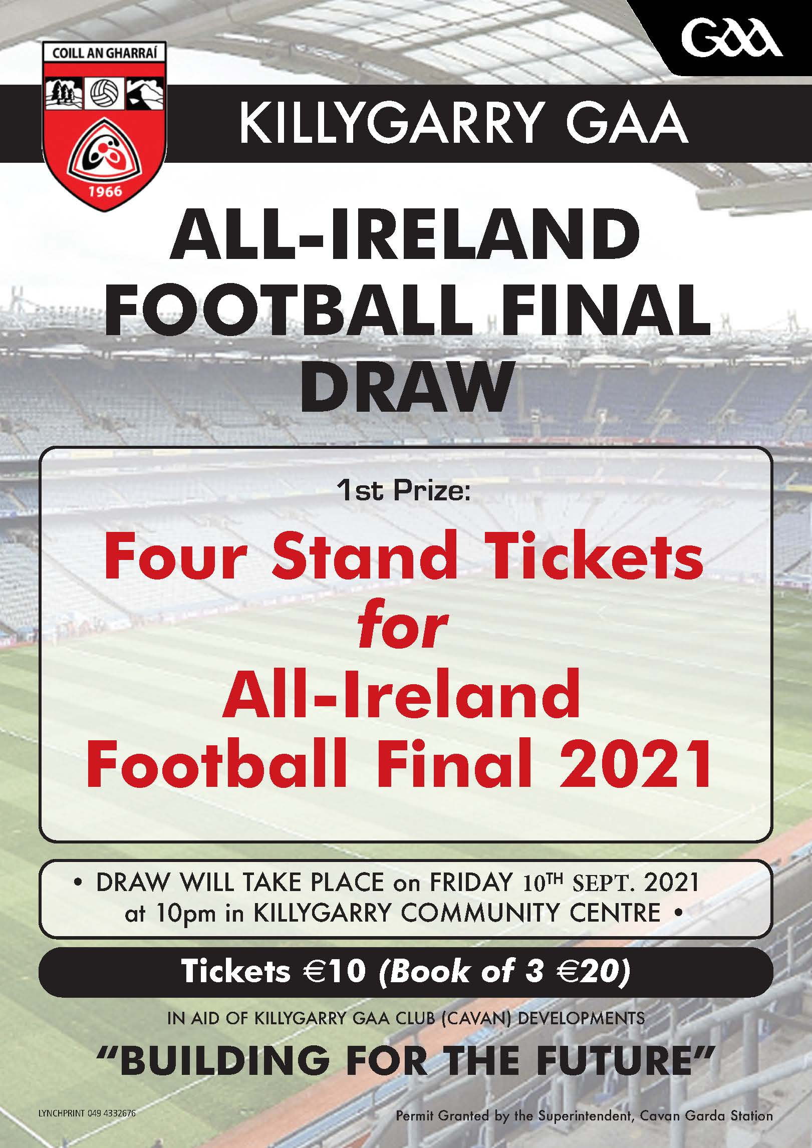 Draw for four All-Ireland Final Tickets